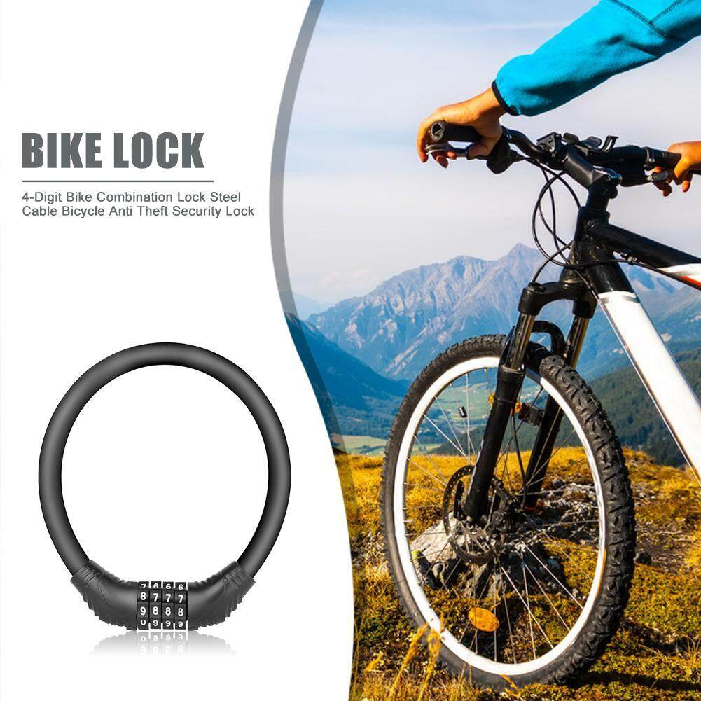 Durable 4 Digit Code Combination Bike Bicycle Steel Cable Long Lock Security