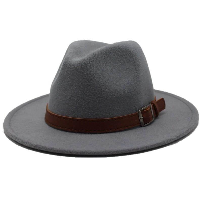 c25b87b9612ec6 Seioum Special Felt Hat Men Fedora Hats with Belt Women Vintage ...