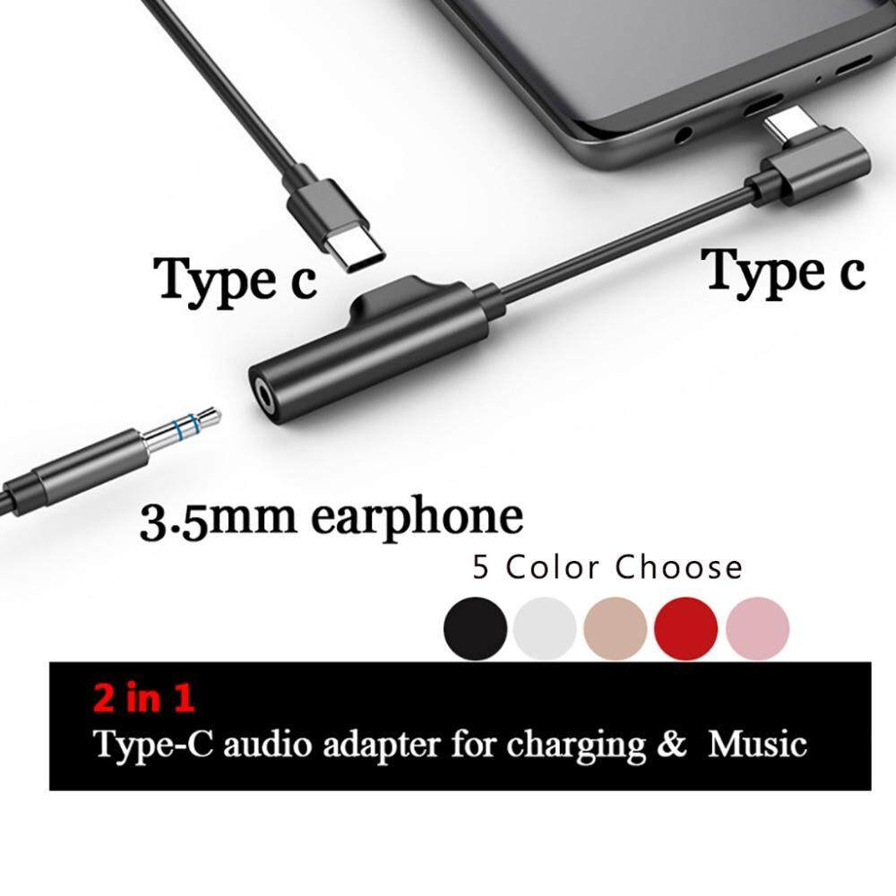 fast charge usb adapter 2 in 1 Type C to 3 5mm Audio Jack Charger Aux  Earphone Adapter Headphone Cable usb micro cable prolunga usb 2019 for  huawei P9
