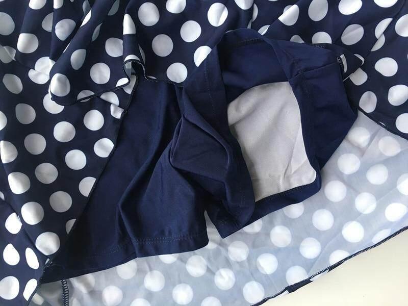 2d5e3e3edd299 L-5XL Plus Size Swimdress Polka Dot Super 2018 Summer Swim Skirt Swimwear  Tankini Swimwear Big Size Bathing Suit Beachwear