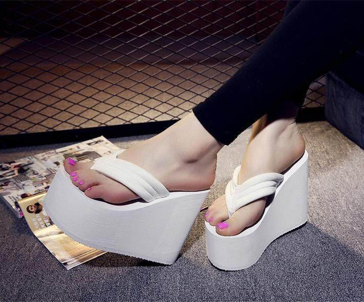 7263d485cc28cd Women s Sexy High Heels Flip Flops Slippers Wedge Platform Antiskid ...