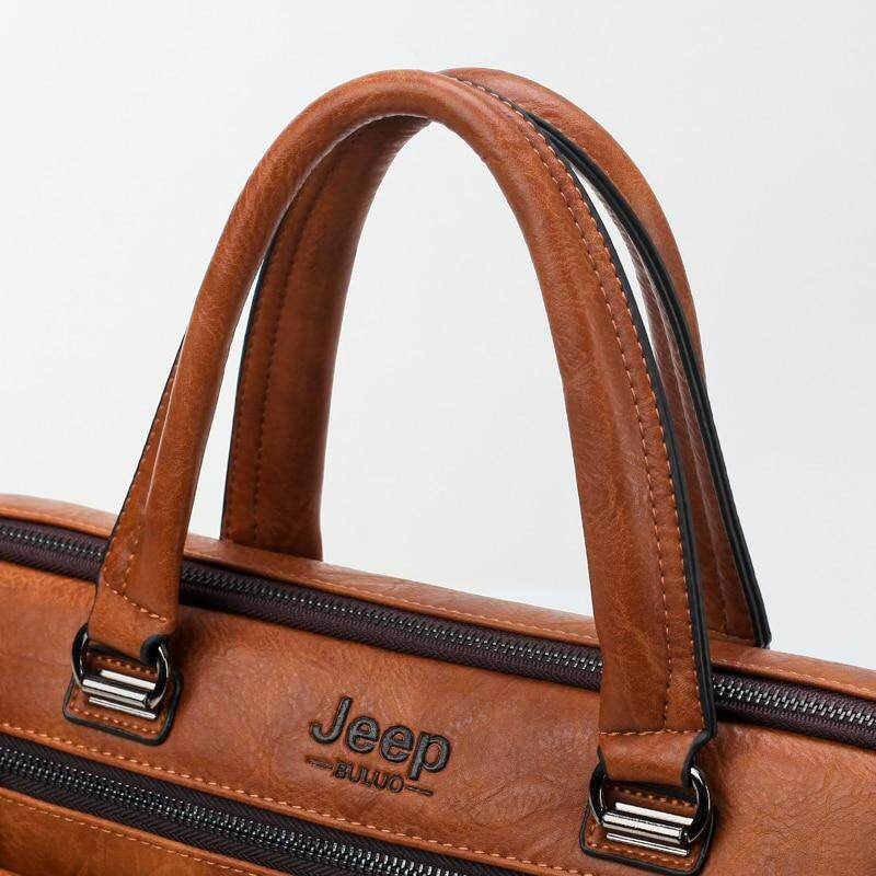 6e99c9a9d3 Specifications of JEEP BULUO Men Business Bag For 13'3 inch Laptop  Briefcase Bags 2 in 1 Set Handbags High Quality Leather Office Bags Totes  Male