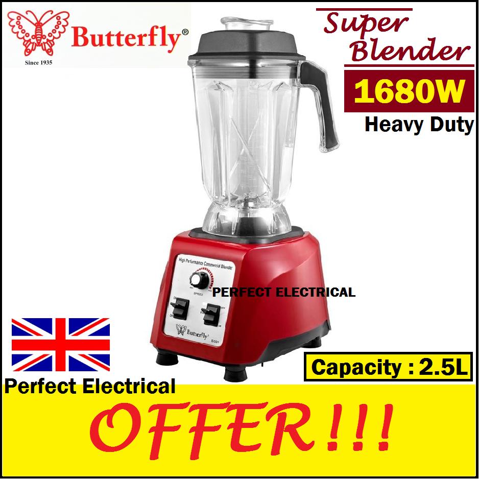 ORIGINAL] Butterfly 2.5L 1680W Heavy Duty Commercial Ice Blender B-591  (red)