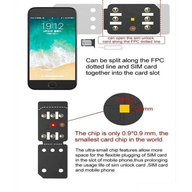 BM R-SIM 14 RSIM Nano Unlock Card for iPhone XS MAX/XR/XS/8/7/6 4G iOS 12