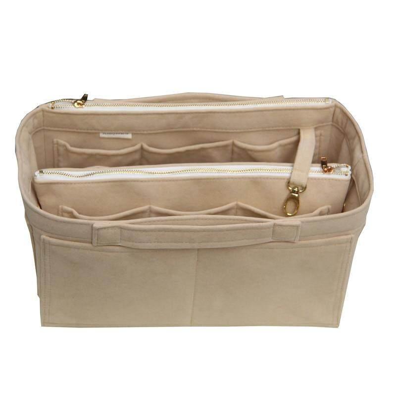 e41a42cd5d HushGecko Customizable High Quality Velvet Bag Organizer Tote Purse  Insert/Cosmetic Makeup Diaper Belongings/Multi Pocket Bag in Bag Organizer  For ...