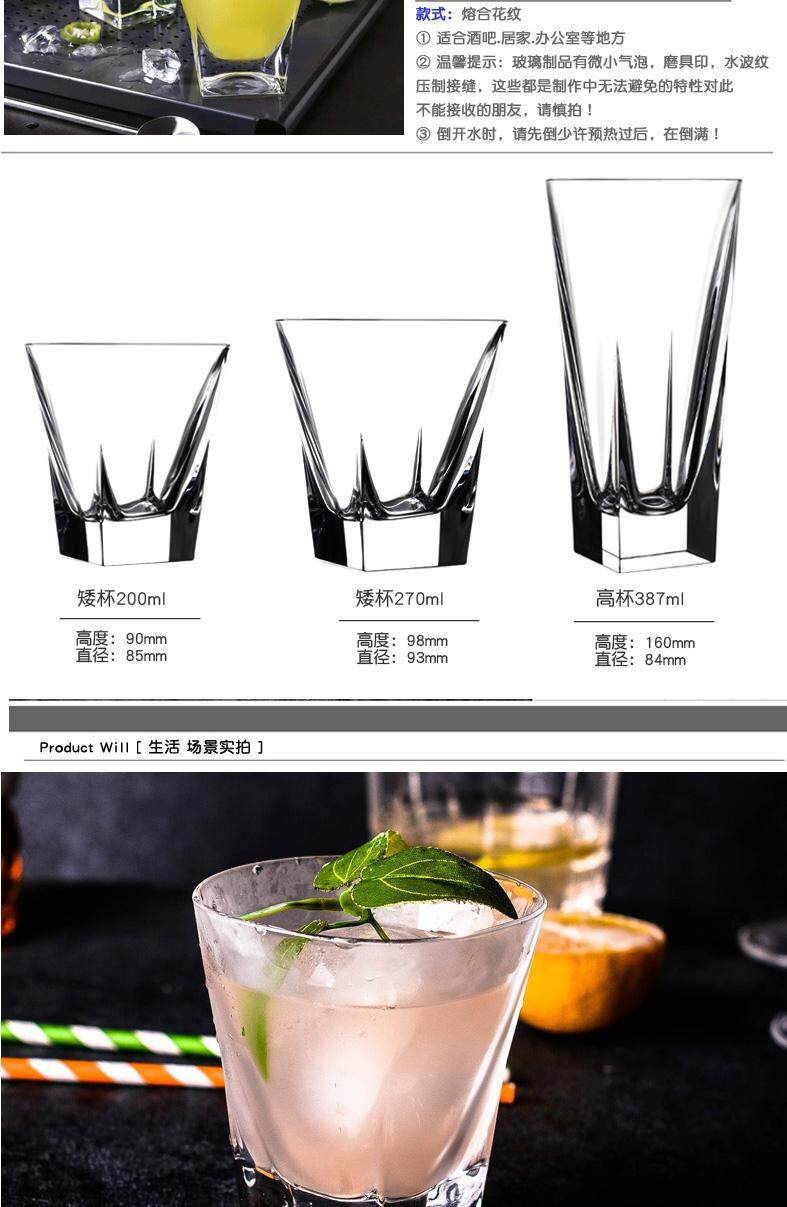Special Offer Italy RCR Lead-Free Crystal Whiskey Cup Square Classical  Imported Wines Shot Glass Cocktail Glass