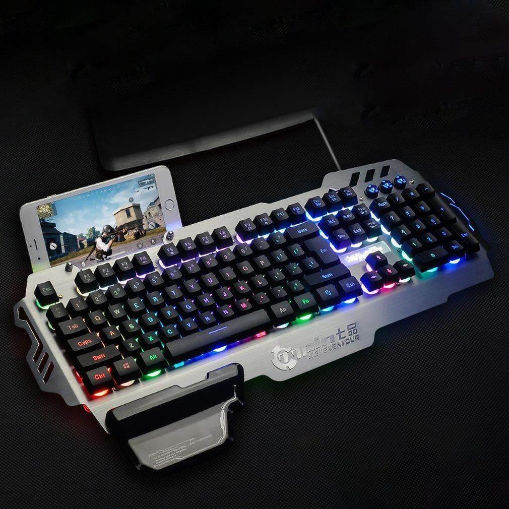 4b46ffdc32c Product details of PK900 Membrane Gaming Keyboard Aluminum Alloy Panel 104  Keys Backlit. Mechanical ...
