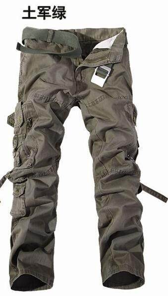 YUNY Men Loose Solid Casual Outdoor Multi-Pockets Oversized Cargo Pant 3 35