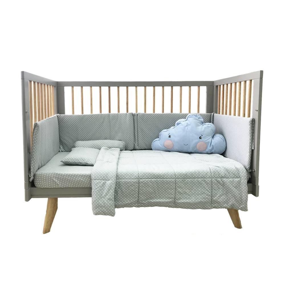 Funbies Viggo Baby Cot Set - Warm Grey - Cot . Playard . Playpen ...