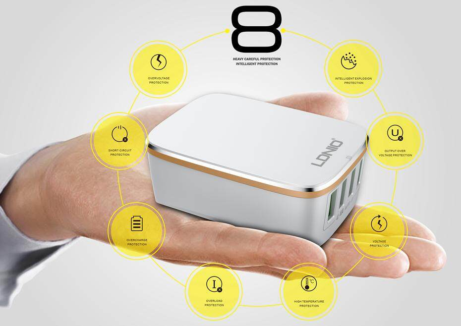 LDNIO USB TRAVEL CHARGER  (4)