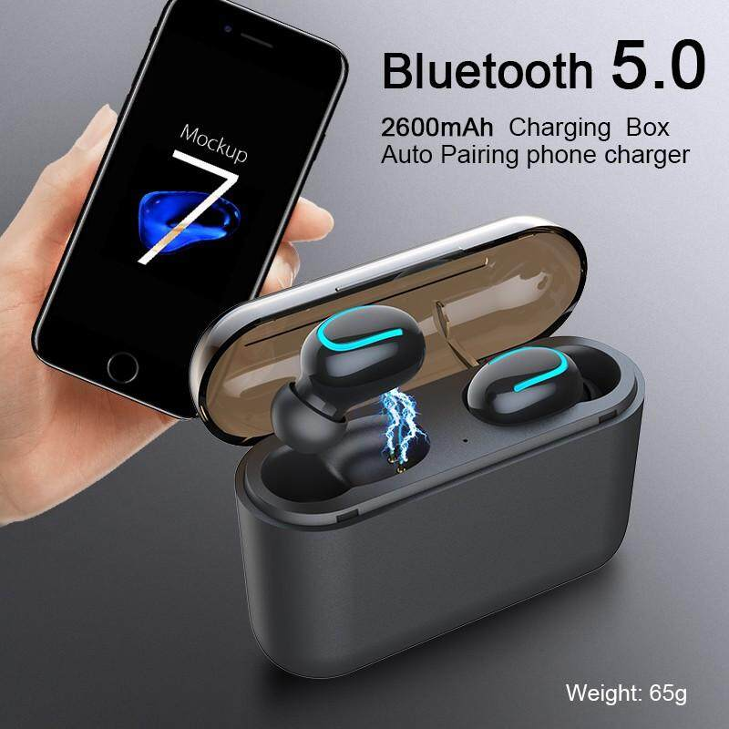 Oqto Q32 Tws Nirkabel Bluetooth Headset 5.0 IPX5 Tahan Air Headphones Stereo Headphone Olahraga