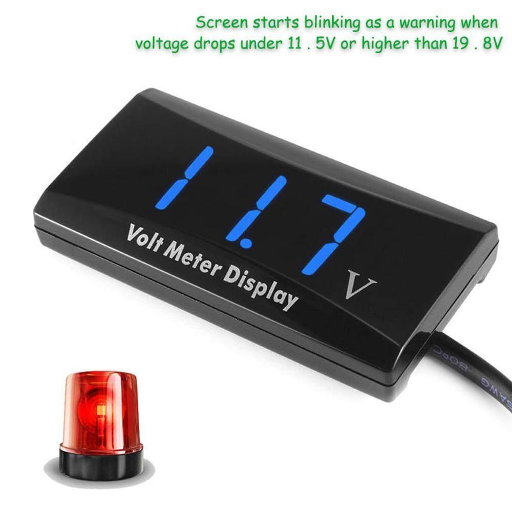 Digital Red LED Car Volt Gauge Meter Panel Voltmeter Display Waterproof