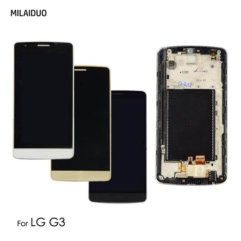 MILAIDUO For Lg G3 D850 D851 D855 Lcd Display Touch Screen With Frame  Digitizer Replacement Assembly 100% Tested Original 5 5inch