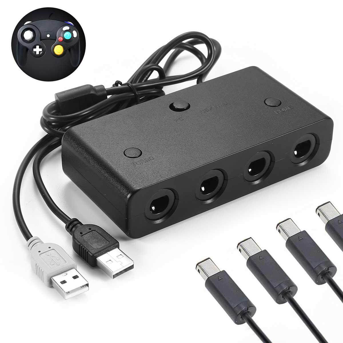 Wincoo 4 Ports GameCube Controller Adapter for Nintend Switch/UWii & PC USB  SH C3S0 U6O2 C8Q1 Supports for GC/Wii Emulator Dolphin