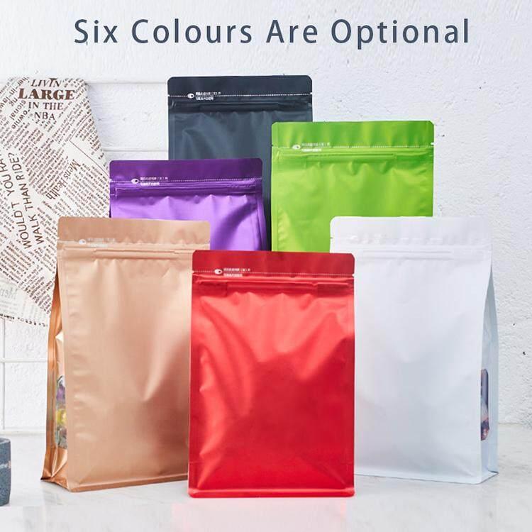 50 Pcs Plastic Bags Of Zipper Food Storage Ziplock Bag Moisture Proof Packaging For Snack Cookies Flavoring Dry Fruits Candy Mylar Heat