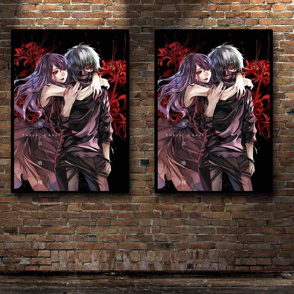 Yuee Tokyo Ghoul Seri Manga Jepang Anime Hot Poster Seni Sutra Lampu Lukisan Kanvas Cetak Dekorasi Rumah Gambar Dinding