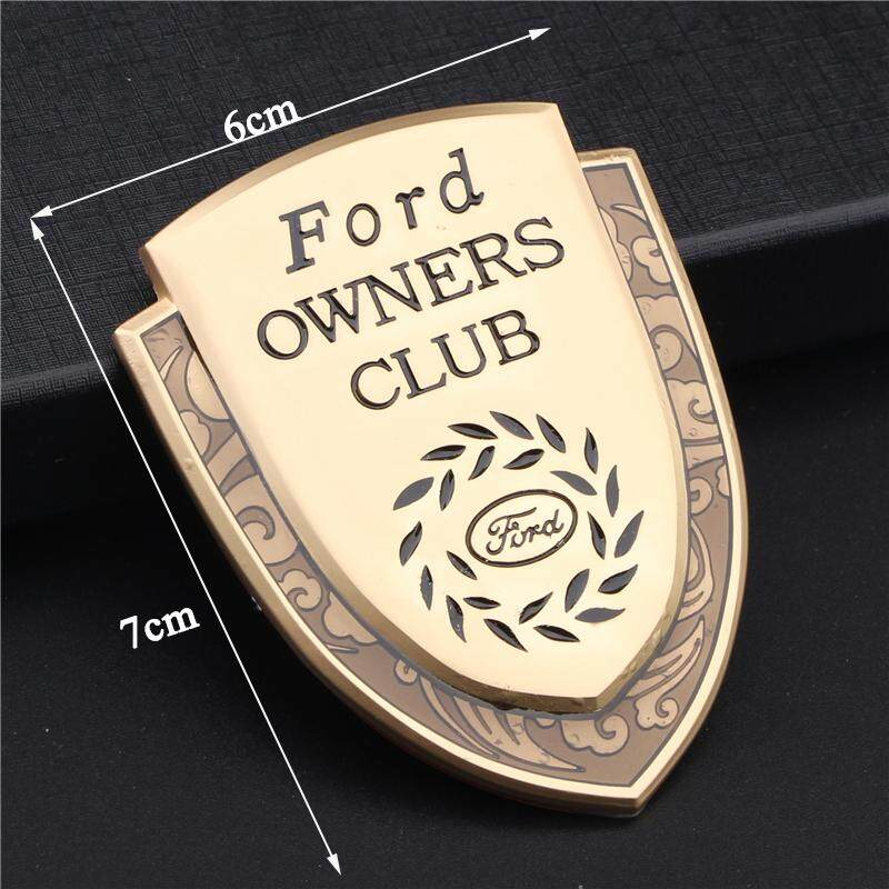 Applicable to car styling accessories zinc alloy badge badge adhesive fender sticker for Ford racing 2 pieces