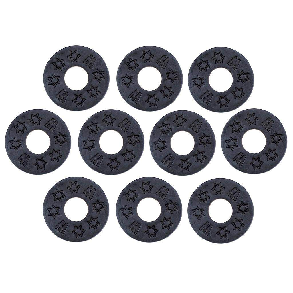 Baoblade 10pcs Guitar Strap Block Rubber Lock Washer Gasket Cushion for  Guitar Parts