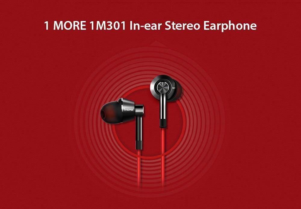 1 MORE 1M301 In-ear Stereo Earphone Universal 3.5mm Earbuds with Mic and In-line Control- White