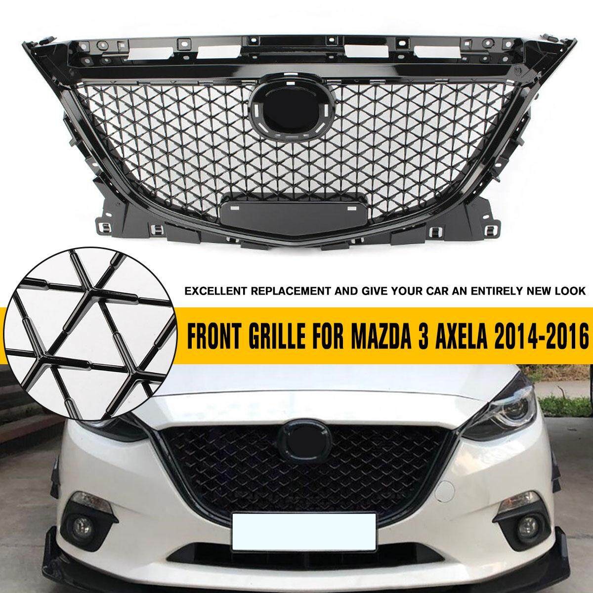 Black Front Upper Grille Honeycomb Grille For Mazda 3 Axela 2014-2016 2015