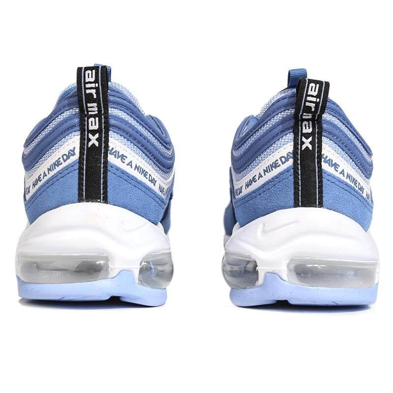 _Nike _Air Max 97 Nd Men's Running Shoes Smiling Face Blue Bullet Air Cushion Sports sneakers # BQ9130 400