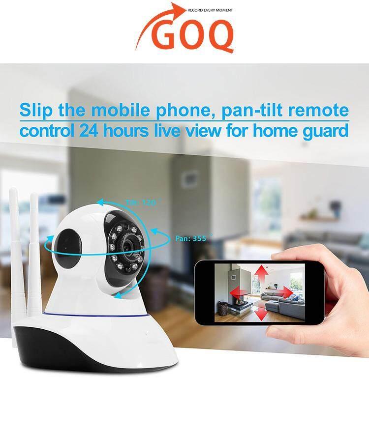 GOQ Q9 IP Security WiFi CCTV Camera 720P HD Home Survelliance IR Night  Vision (V380 App)