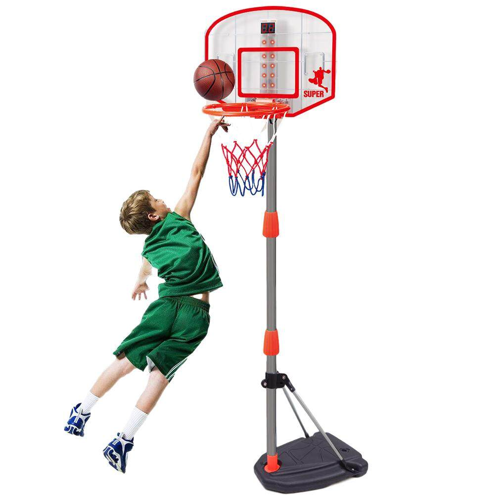 Portable Adjustable Junior Basketball Net for Children with Carry Case and Ball