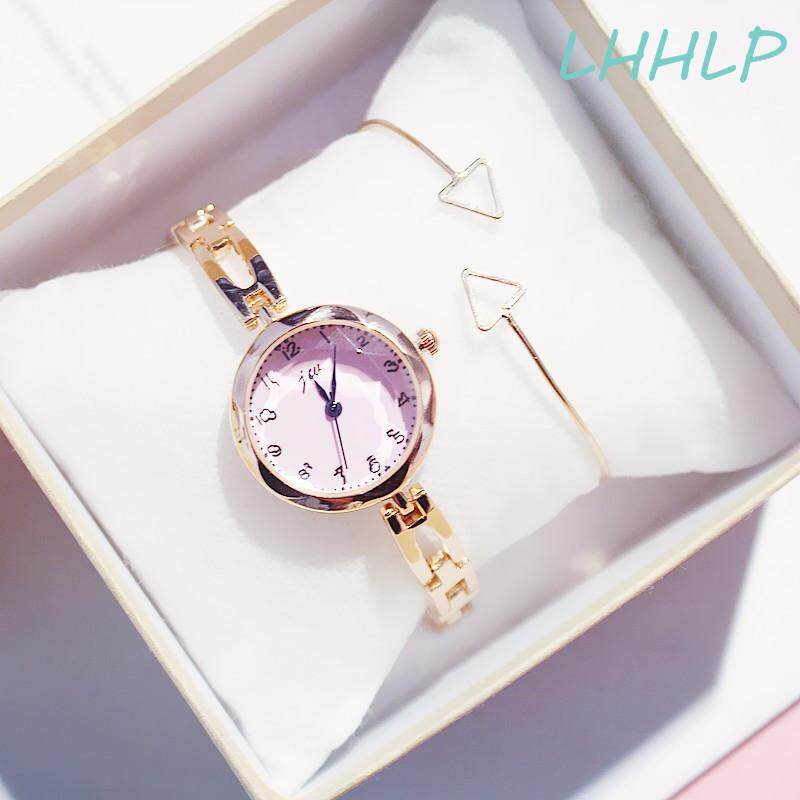 With Nice Watch Box Bracelet Ins Hot Sale Fashion Watch For Women Simple Round Dial Stainless Steel Strap Bracelet Quartz Ladies Watch