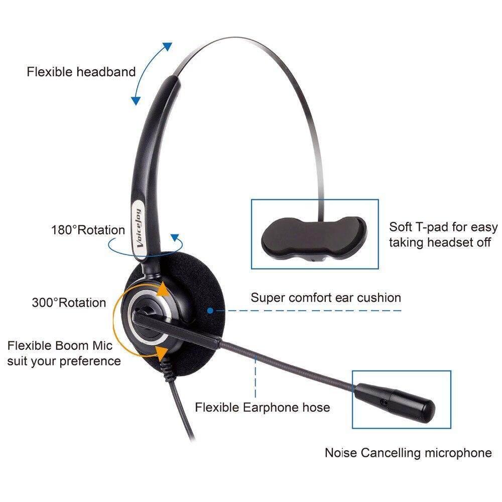 Call Center Headset RJ9 Plug Headset for AVAYA IP Phone 1608 1616 9610 9620  9630 9640 9650 9670,J139,J169 and J179 Phones Yealink Phones