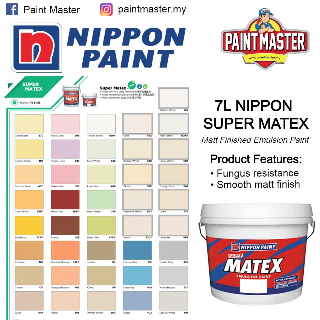 1l Nippon Paint Easywash Matt Finished Interior Paint Cat Dalam Rumah Nippon Lazada