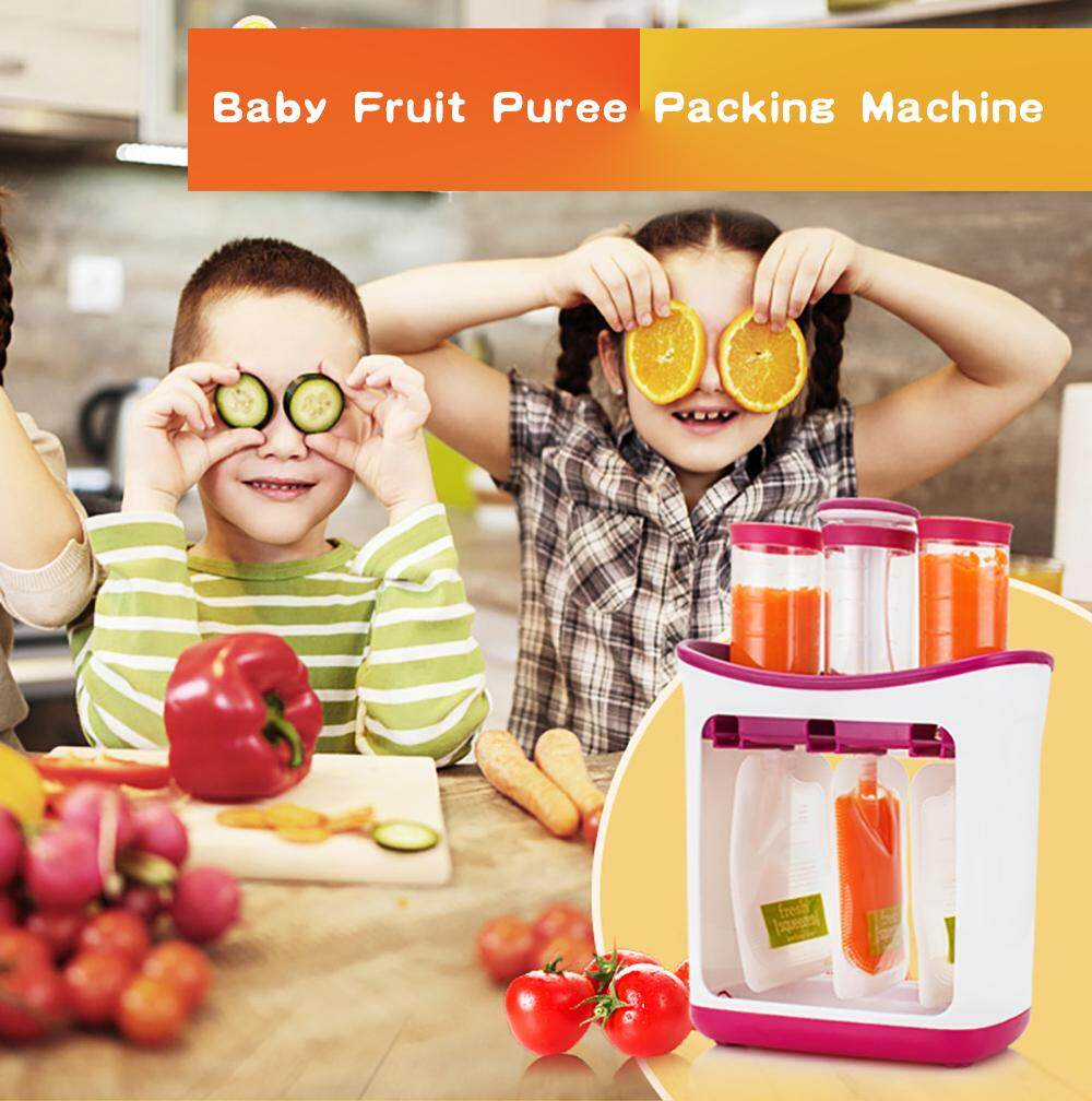 Infant Baby Food Feeding Station Maker Pouches Homemade Fresh Squeeze