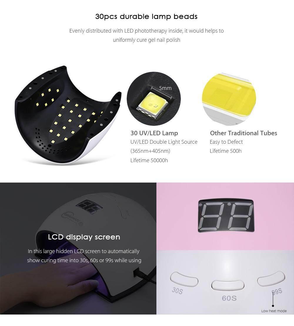 Rainbow 4 48W LED / UV Nail Dryer Gel Polish Curing Lamp with Foot Pad