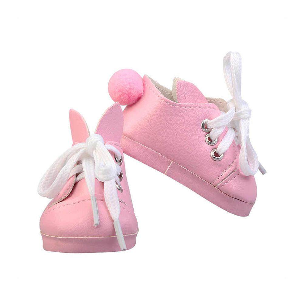 Fashion Lace Up Canvas Shoes /& Boots for 18inch AG American Doll Doll Decor