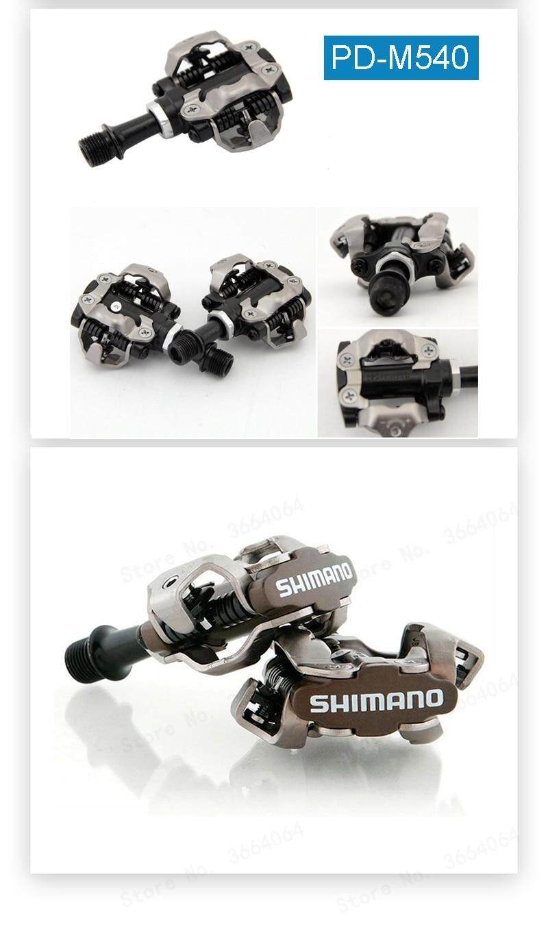 Shimano PD-M540 SPD Clipless Bicycle Pedal MTB XC Bike Pedals /& SH51 Cleats PD22