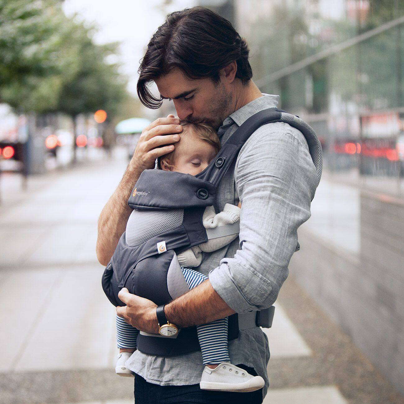 Ergobaby Four Position 360 Baby Carrier Cool Air (Carbon Grey)