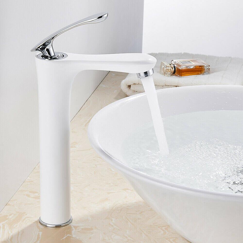 Modern White Bathroom Basin Mixer