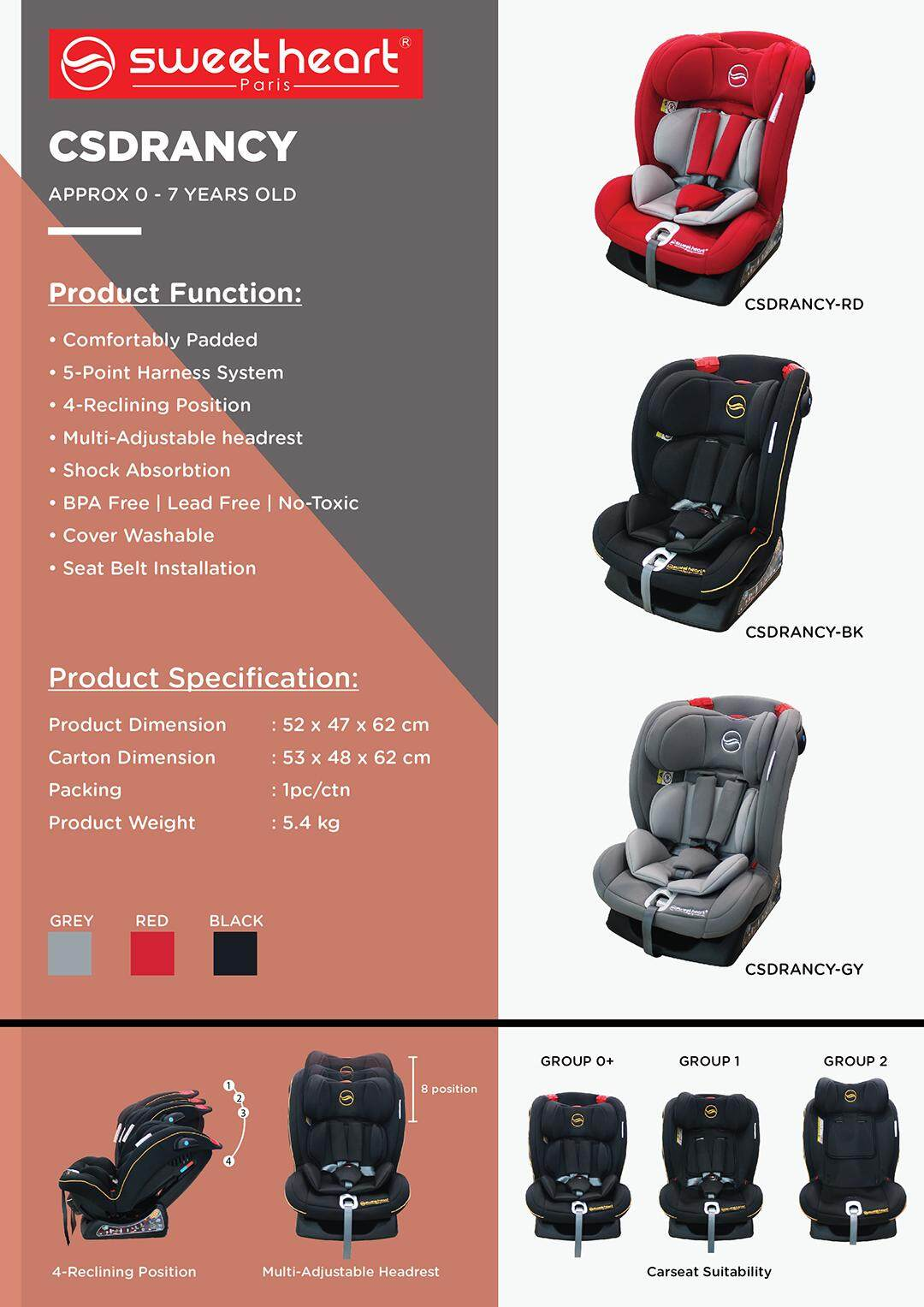 Image result for CS DRANCY Safety Car Seat