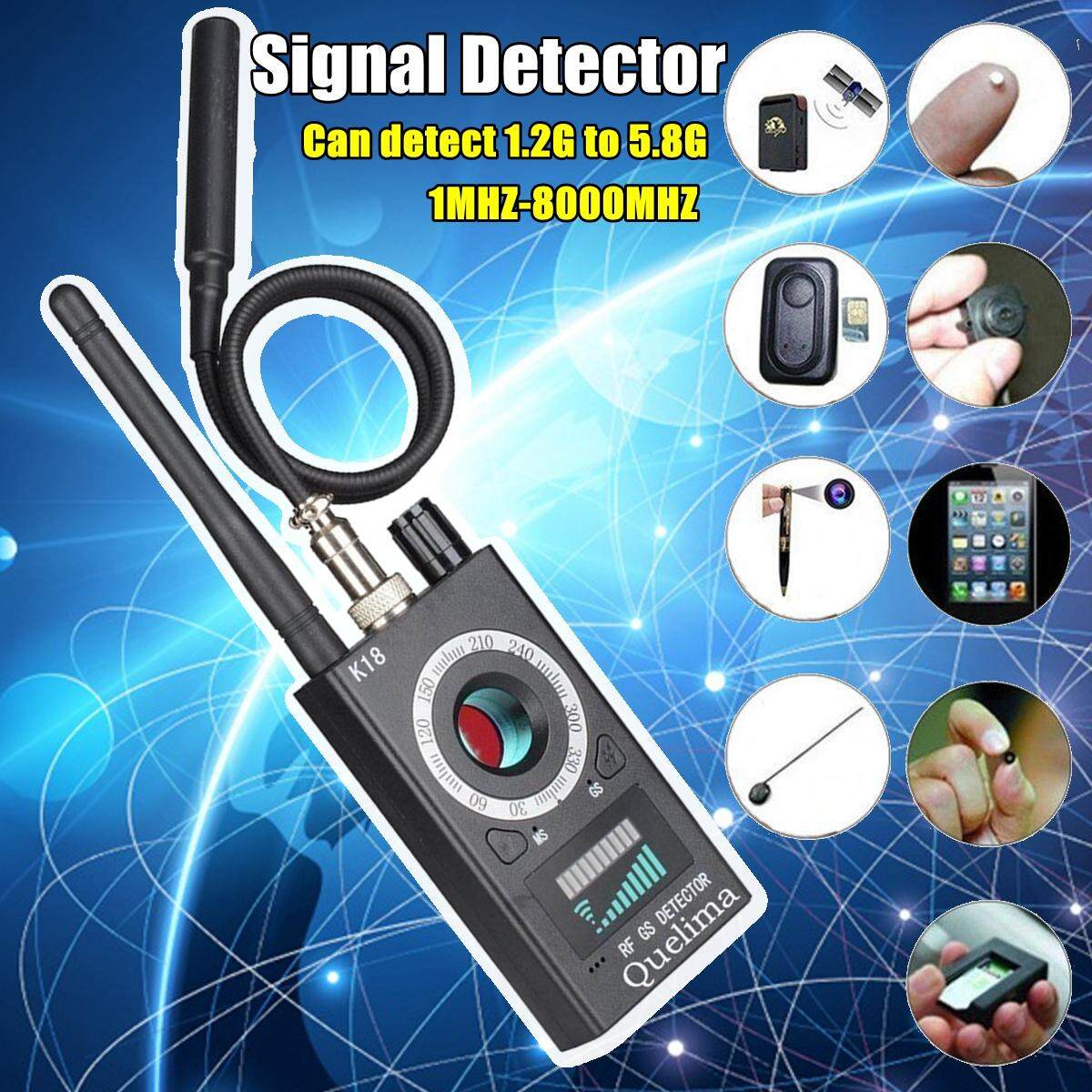 Quelima K18 Handheld Signal Detector for detecting Cell phone signal GPS  locator Tracker Wireless camera and Bug device