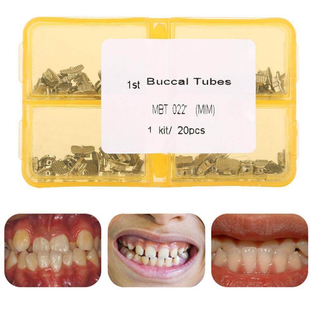 [Free gift] 20 Set/Bag Dental Orthodontic Tube 1st Molar Roth Single Buccal  Tube