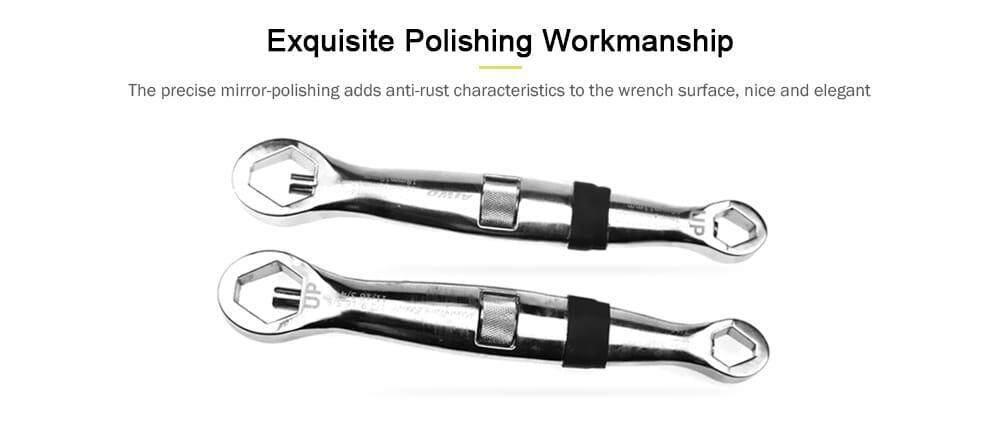 23-in-1 Multifunctional Adjustable Universal Socket Wrench- Platinum