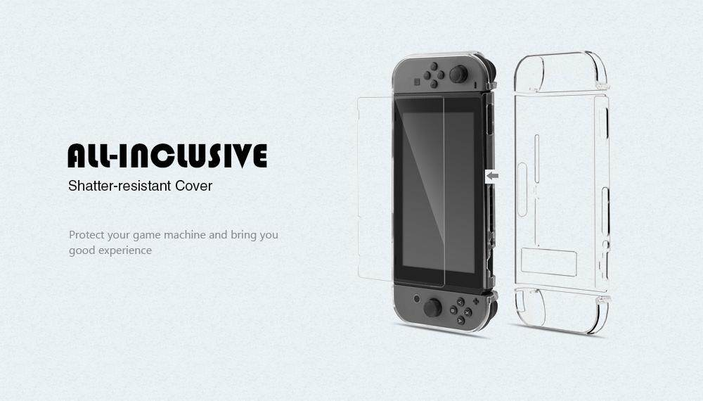 Anti-Scratch Hard Crystal Back Cover Set for Nintendo Switch