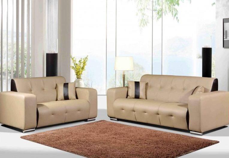 Beige Sofa 2 3 Seater Set