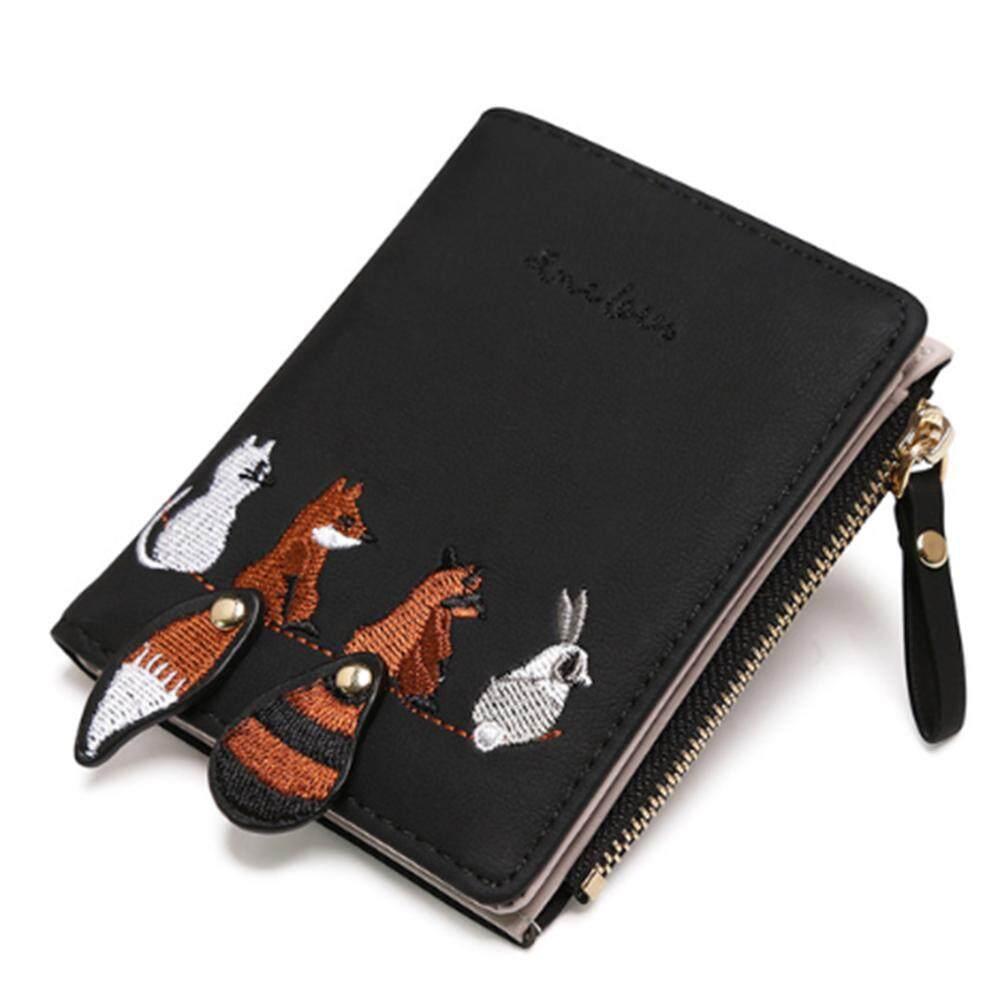 242e799c4bd3 Fashion Women's Wallet Lovely Cartoon Animals Short Leather Female Small  Coin Purse Hasp Zipper Kid Purse Card Holder for Girls