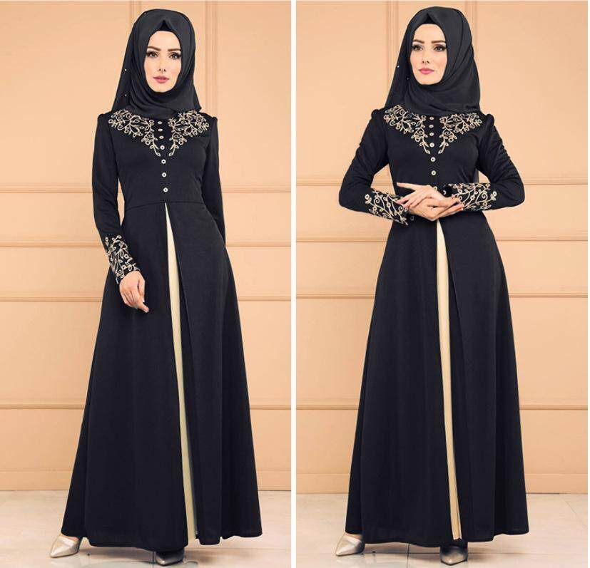 c2c652dcf8b07 ZUZU Casual Muslim Dress Cardigan Loose Robe Dress Ramadan Turkish Islamic  Prayer Costume Free shipping