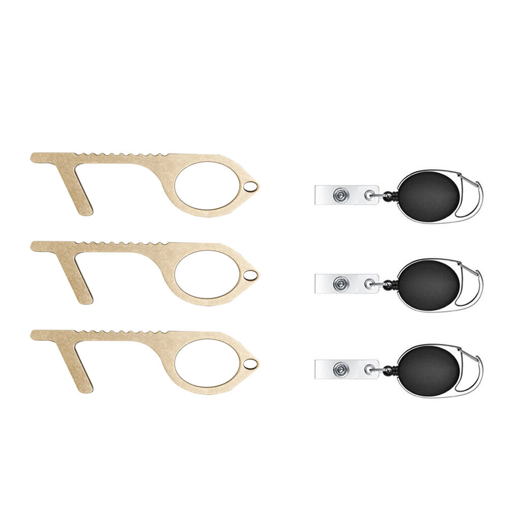 Upgraded Version Contactless Safety Door Opener Safety Protection Isolation Brass Key Door Opener 1Pcs