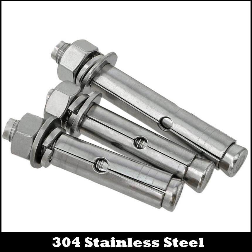 M8 M8*90 M8x90 304 Stainless Steel Ss External Hex Hexagon Expansion Screw  Sleeve Concrete Anchor Bolt (3PCS M8X90)