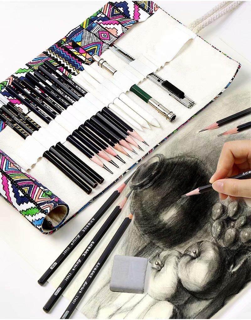 Aicrane 30 38 45 Pcs Pensil Sketsa Set Pena Sketsa Set Pensil Menggambar Pemula Mahasiswa Profesional Paket Lengkap Dari Pena Sketsa Perlengkapan