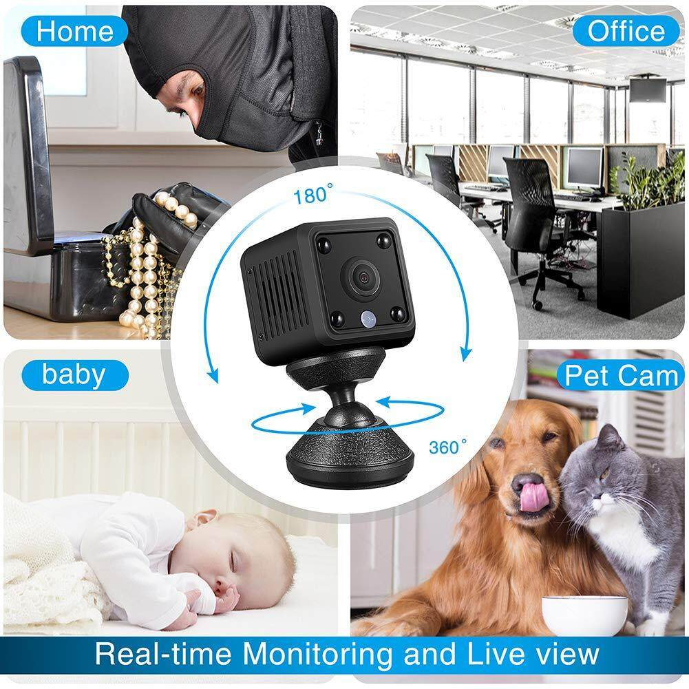 Mini Hidden Camera HD 1080P Wireless Home WiFi Camera App (iOS / Android),  Night Vision, Motion Detection  Suitable for home/office/indoor and outdoor