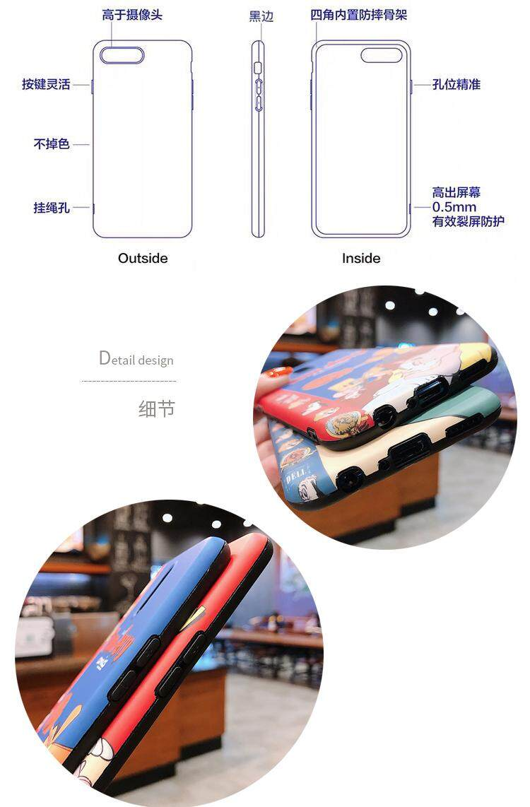 Cartoon Tom Jerry Case For OPPO A3S/A5/A3/OPPO A9/F11/A9X/OPPO F9/OPPO  K3/OPPO R15 Pro R11S /OPPO R17 Pro/OPPO Reno Case Silicon cat and mouse  Soft
