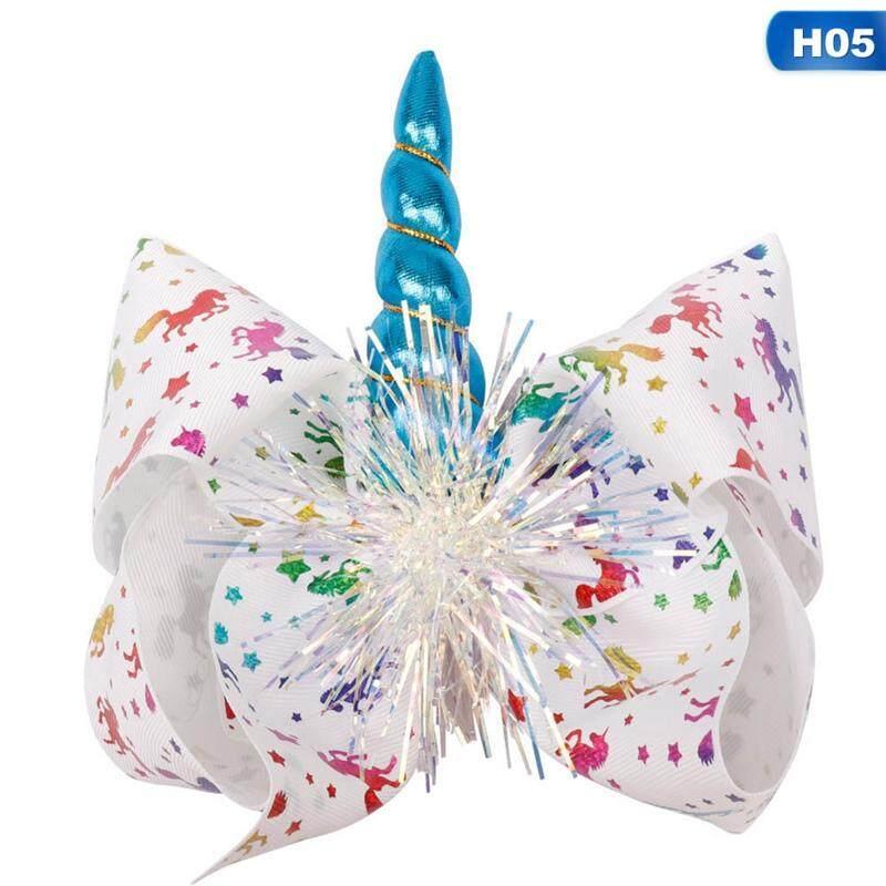Kids Unicorn JOJO Flowers Bow Hair Clip Girl Hairpin Hairs Accessories Gifts